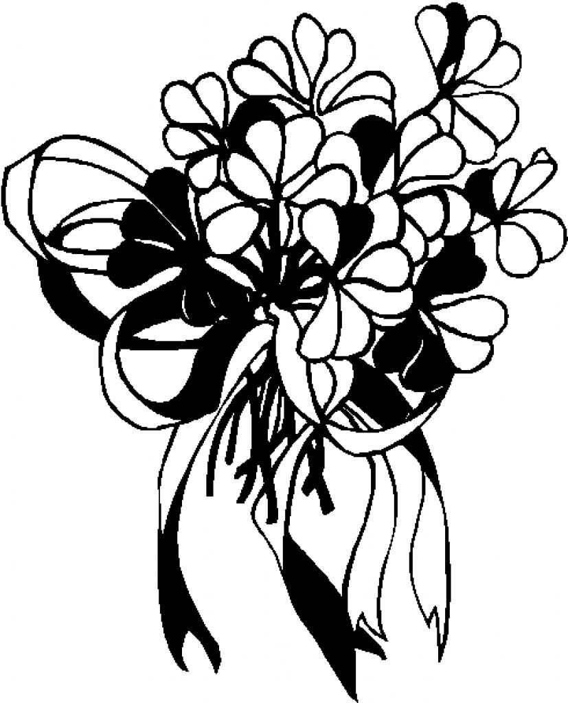 827x1024 Clip Art Silhouette Flower Bouquet Cliparts