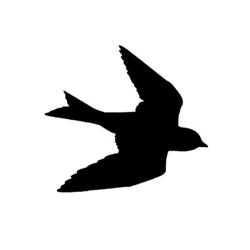 504x504 Clearance Silhouette Swallow In Flight Rubber Stamp Large Bird