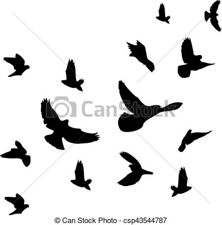 450x457 Background Of Flying Birds Flock Vector