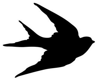 320x270 Mi Pared ) Imprimibles Swallows, Silhouette