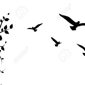 300x300 Bird Vector Art S Flying Bird Silhouette Vector Adult