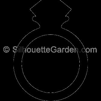 336x334 Diamond Clipart Silhouette
