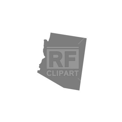 400x400 Arizona Silhouette Free Vector Clip Art Image