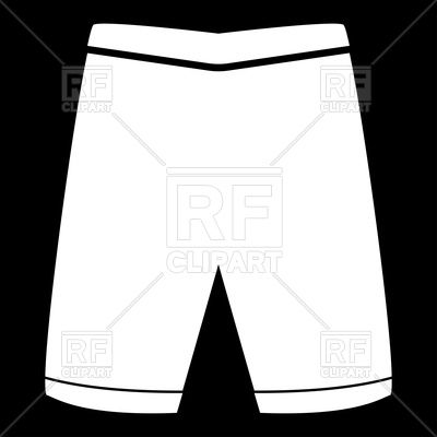 400x400 Shorts Silhouette Royalty Free Vector Clip Art Image