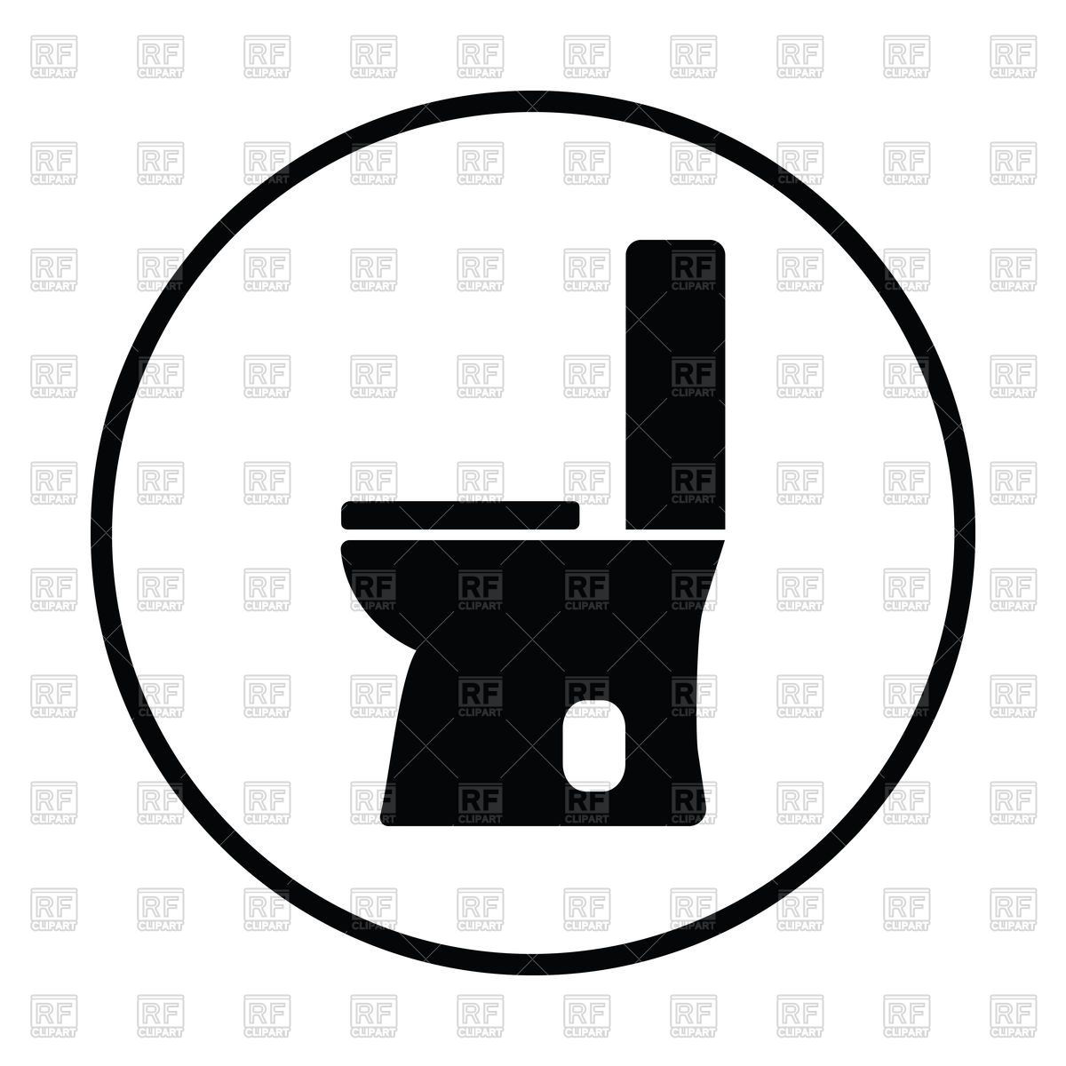1200x1200 Silhouette Of Toilet Bowl Icon Royalty Free Vector Clip Art Image