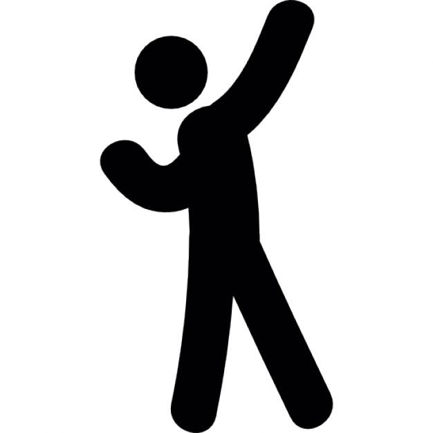 626x626 Standing Man Silhouette Throwing Something Icons Free Download