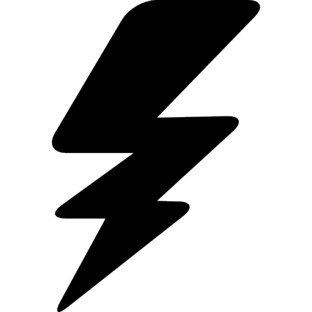 626x626 Thunderbolt Silhouette Icons Free Download