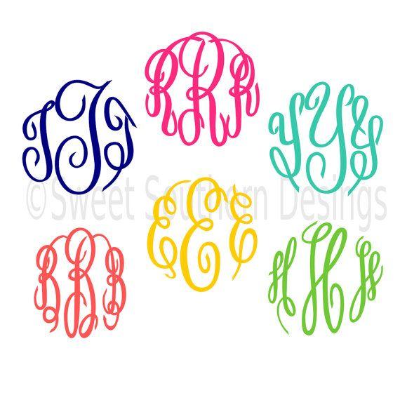 570x570 Master Circle Monogram Font Script Cursive Font Svg Dxf Eps