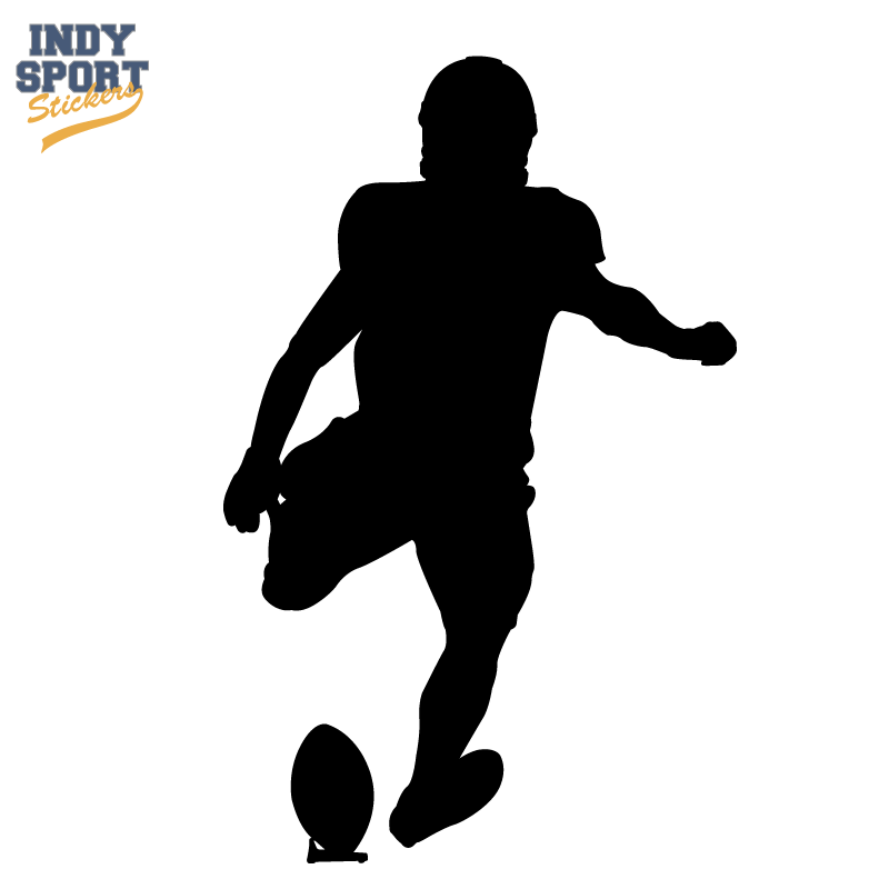 800x800 Football Player Place Kicking Silhouette