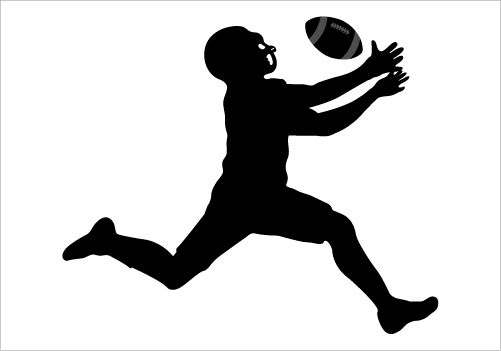 501x351 A Perfect Silhouette Of American Football Player Ideal For Any