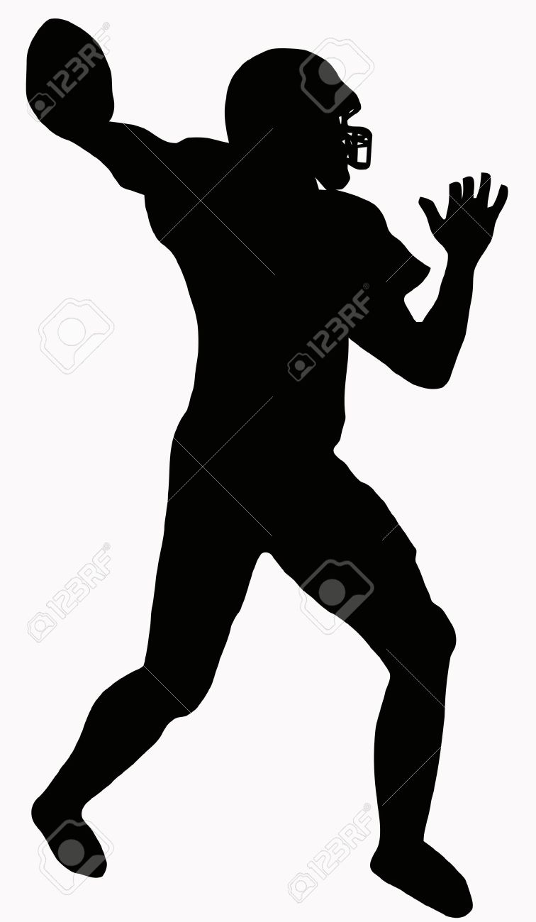 756x1300 Free Football Player Silhouette Clipart