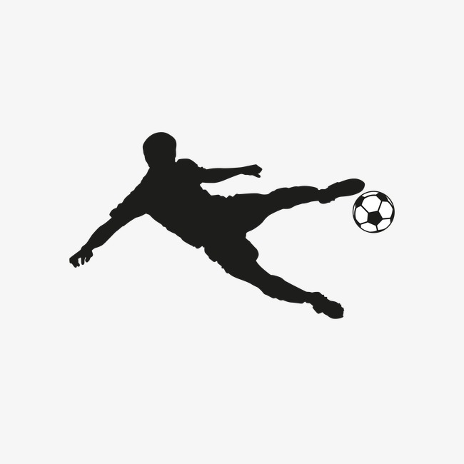 650x650 Silhouette Of Soccer Player Kicking, Football Player Silhouette