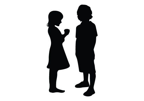 500x350 Kids Silhouette Vector Free Spanish And Preschool Resources