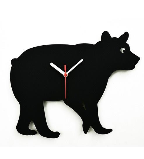 494x544 Buy Osaree Black Acrylic 12 X 9.9 Inch Bear Wall Silhouette
