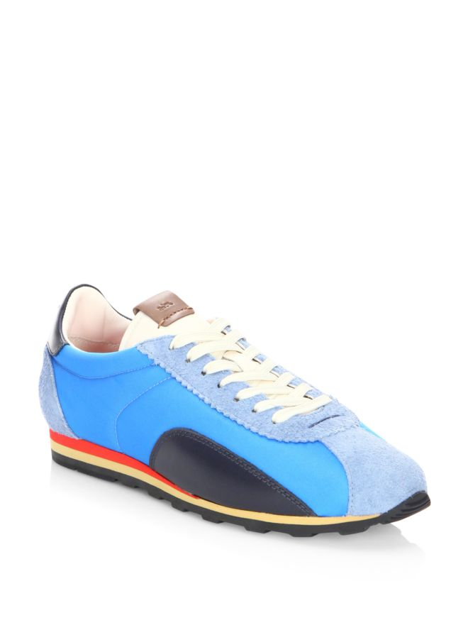 660x881 Coach Multitoned Silhouette Sneakers Blue Men Shoes [400095125647