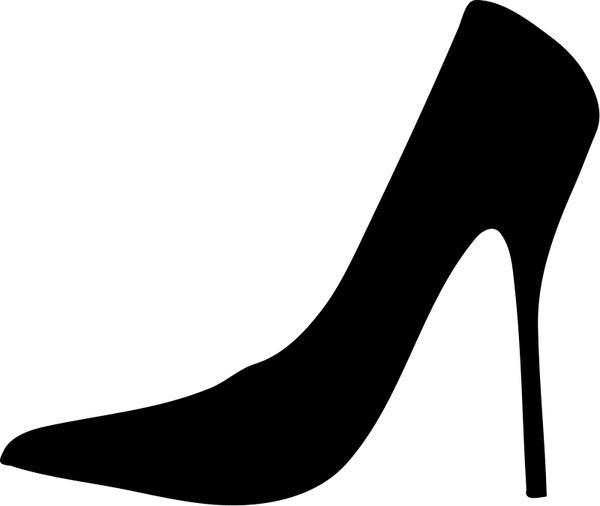 600x506 Women Shoe Silhouette Free Vector In Open Office Drawing Svg