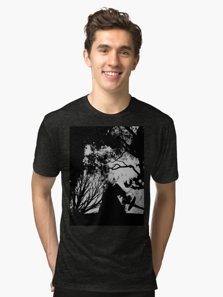 750x1000 Kylo Ren Silhouette Forest Fire Graphic T Shirt By Qualitypirate