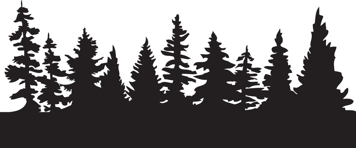 1165x487 Silhouette Forest Clipart Forest Clipart