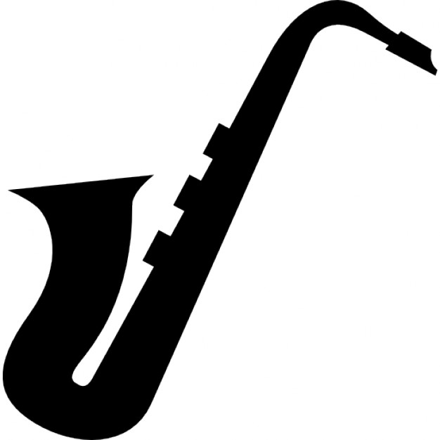 626x626 Saxophone Side View Silhouette Icons Free Download