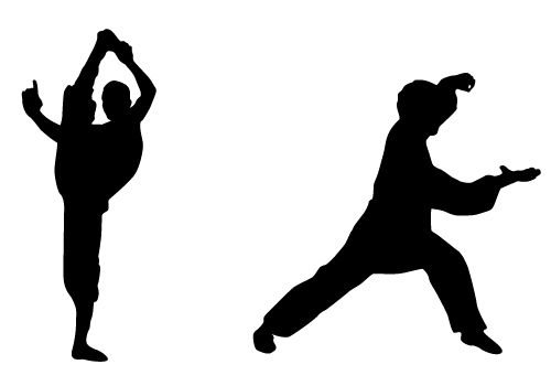 500x350 Stunning Karate Silhouette Vector Free Download Silhouette Clip
