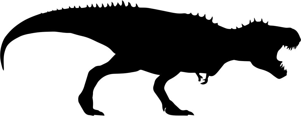 981x380 Tyrannosaurus Rex Dinosaur Silhouette Svg Png Icon Free Download
