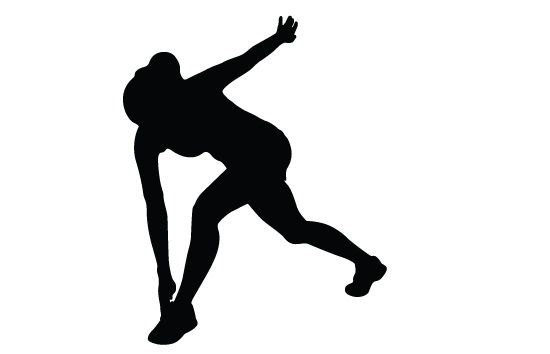 550x354 Woman Exercising Silhouette Vector Vector Free Download