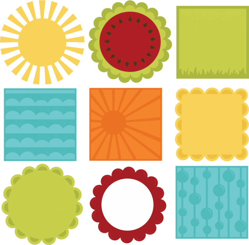 800x786 Summer 12 X 12 Background Shapes Svg Files For Scrapbooking Summer