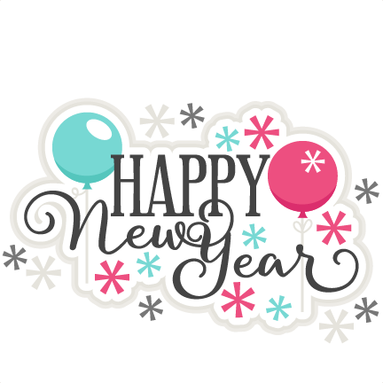 432x432 Happy New Year Title Scrapbook Cut File Cute Clipart Files