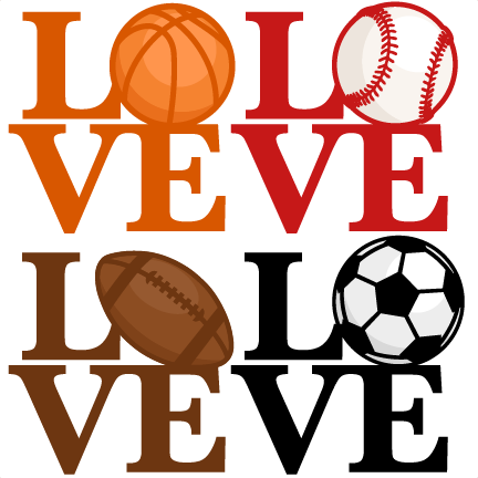 432x432 Love Sports Titles Svg Scrapbook Cut File Cute Clipart Clip Art