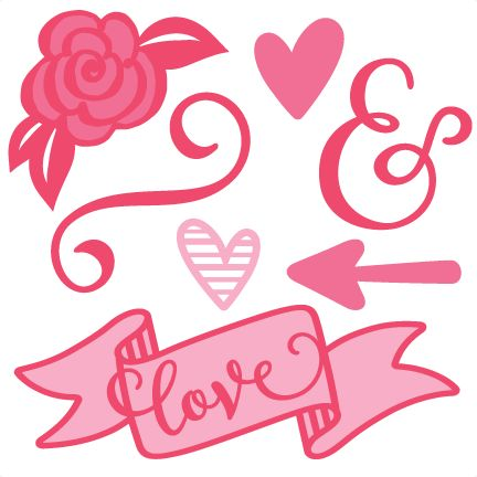 432x432 Valentine Set Svg Scrapbook Cut File Cute Clipart Files