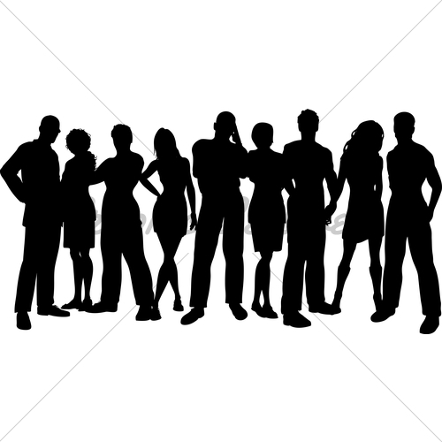 500x500 Group Of Friends Gl Stock Images