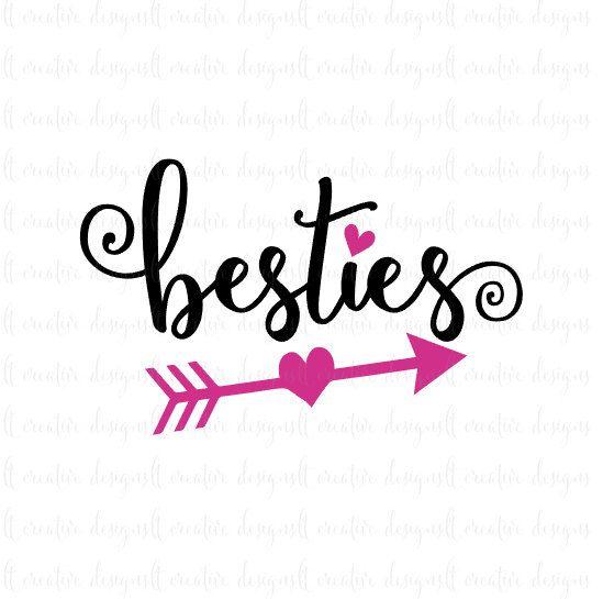 549x545 Besties Svg, Best Friends Svg, Friends Svg, Heart Svg, Bff Svg