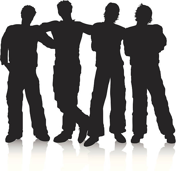 612x592 Silhouette Clipart Group Of Friends Collection