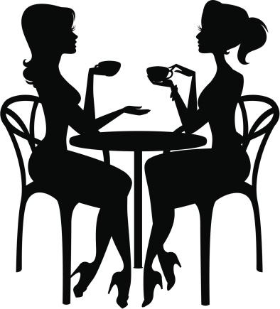 394x435 Women Coffee Cliparts