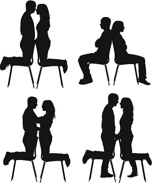 509x612 Clipart Silhouette Friends Sitting From Back