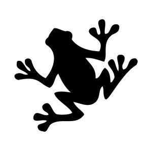 Silhouette Frog