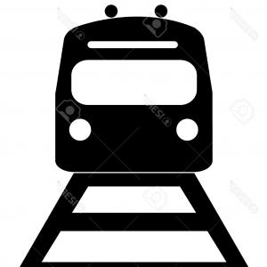 300x300 Old Train Silhouette Front View Vector Clipart Lazttweet