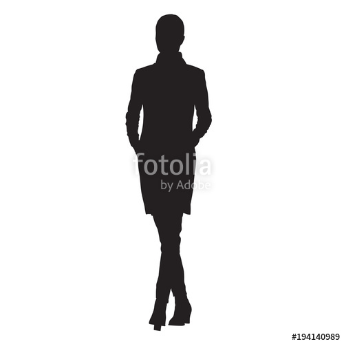 500x500 Business Woman In Jacket With Hands In Her Pockets Walking