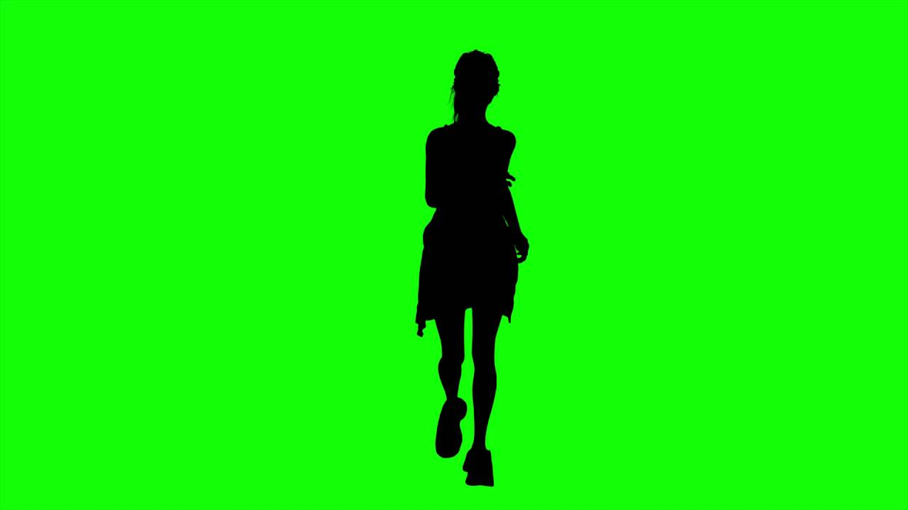 1280x720 Free Hd Video Backgrounds Woman Silhouette Running