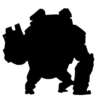 349x355 Overwatch Video Game Winston Silhouette Vinyl Stickers