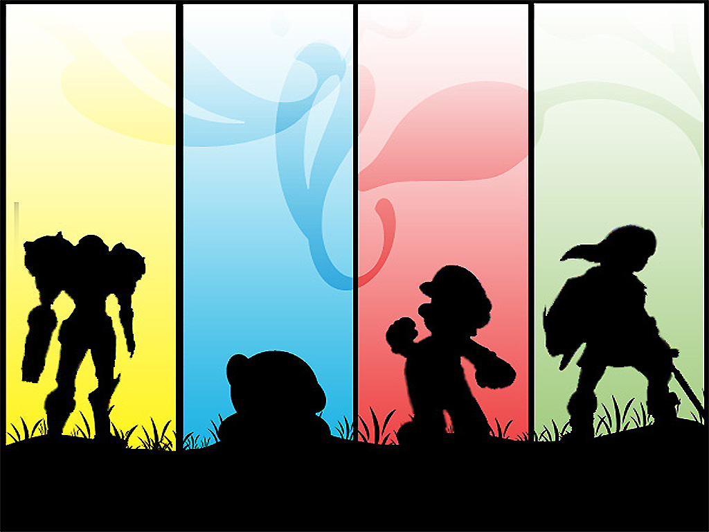 1024x768 Nintendo Silhouette By Leon433