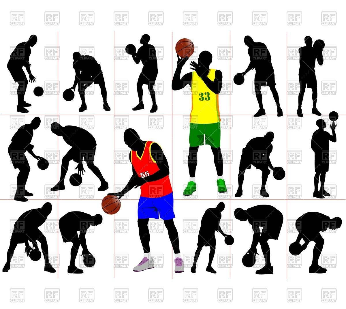 1200x1071 Basketball Player Silhouette
