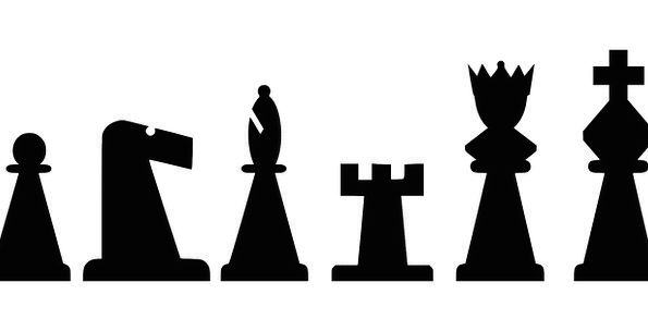595x304 Chess, Smithereens, Set, Usual, Pieces, Bishop, Silhouette