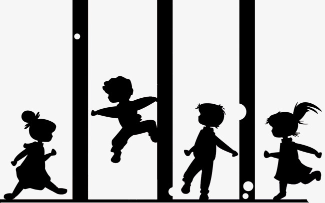 650x407 Children Playing Silhouettes, Child, Game, Play Png And Psd File