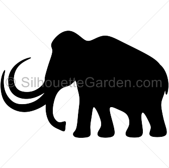 336x334 Mammoth Silhouette Clip Art. Download Free Versions Of The Image