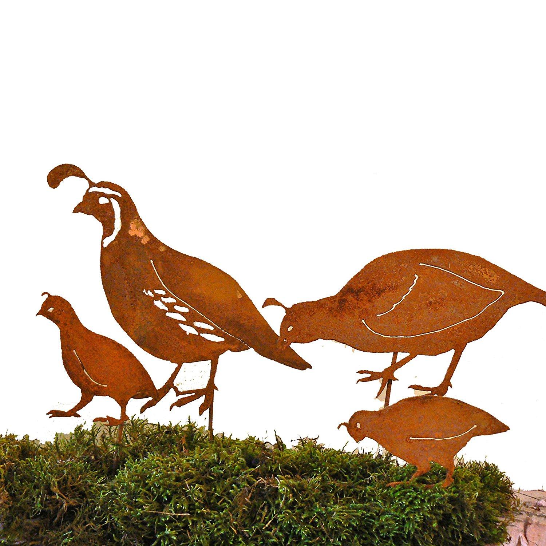 1500x1500 Elegant Garden Design California Quail Family Stake