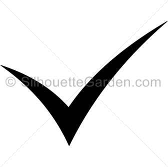 336x334 Check Mark Silhouette Clip Art. Download Free Versions