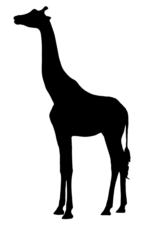 2000x3000 Giraffe Silhouette 3 Clipart