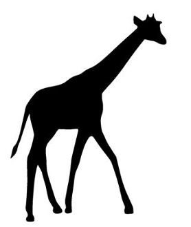 278x330 Giraffe Silhouette 6 Decal Sticker