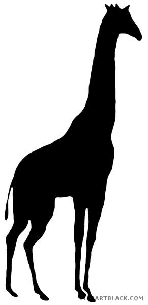 291x600 Giraffe Silhouette Clipart